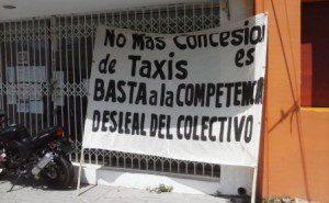 Urbaneros se manifiestan en Sevitra ante rumor de entrega de concesiones para taxis (7)