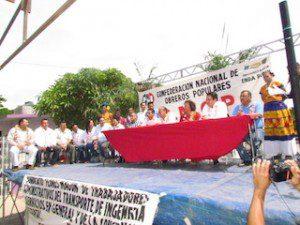 Protesta Eduardo Esteva como Secretario General de la CNOP en Juchitán.3