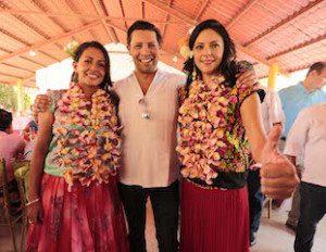 """LA CANDIDATA DEL PRI A LA DIPUTACIÃ""""N FEDERAL YARITH TANNOS ACOMPAÃ'ADA DE RODRIGO ALPIZAR VALLEJO PRESIDENTE NACIONAL DE LA CANACINTRA Y MARIANA BENITEZ CANDIDATA PLURINOMINAL DEL PRI"""